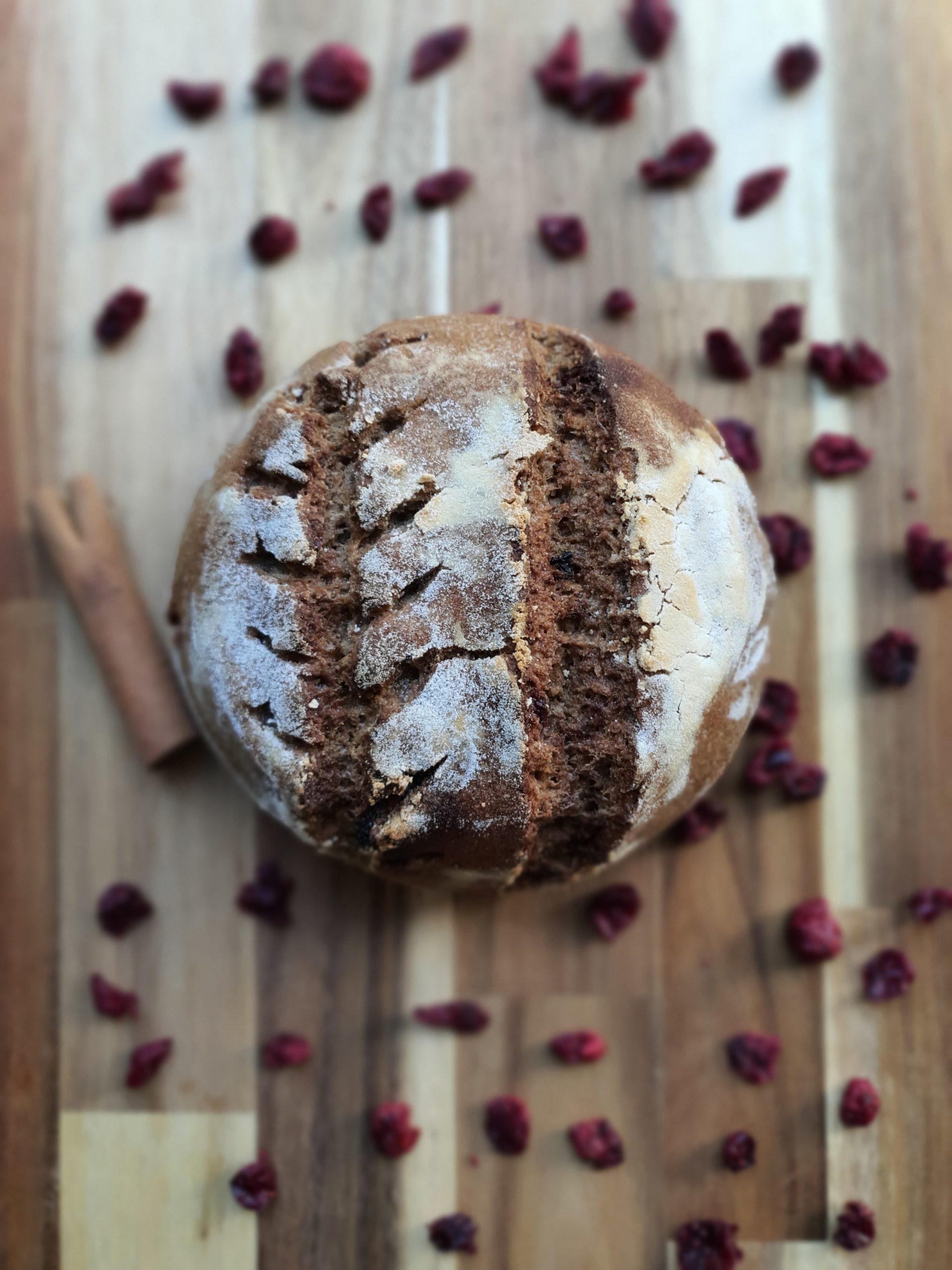Gluten Free Cinnamon and Craisin Sourdough Bread