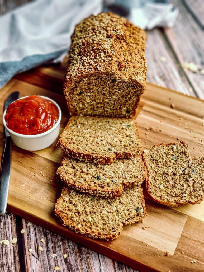 Irish Brown bread and strawberry jam